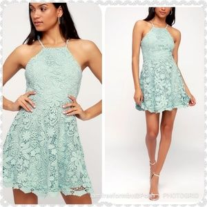 """Lulu's """"Love In The Air"""" Mint Lace Skater"""